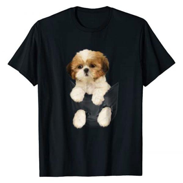 Shih tzu Puppy in Pocket T-Shirt Graphic Tshirt 1 Shih tzu Puppy in Pocket T-Shirt