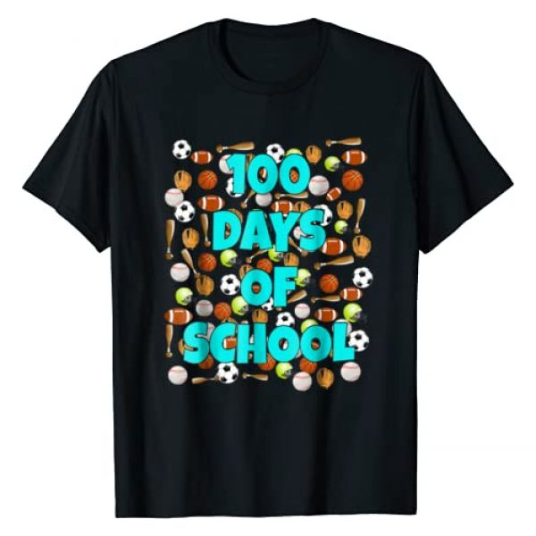 100 Day Tees Graphic Tshirt 1 100 Days of School T Shirt for kids or teachers - Sports