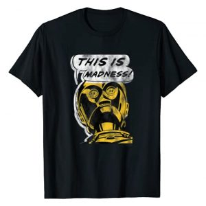 Star Wars Graphic Tshirt 1 C-3PO This is Madness Text Bubble T-Shirt