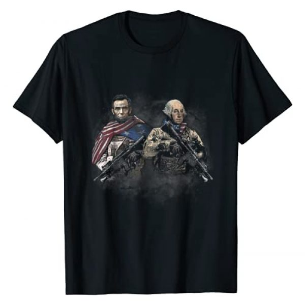 One Nation Design Graphic Tshirt 1 Presidential Soldiers: Abraham Lincoln and George Washington