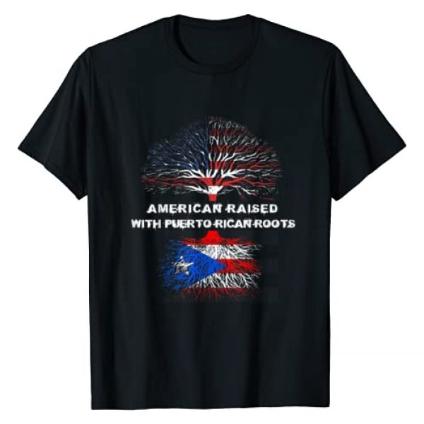 American Raised Puerto Rican Roots US Flag Tee Co. Graphic Tshirt 1 American Raised with Puerto Rican Roots Puerto Rico T-Shirt