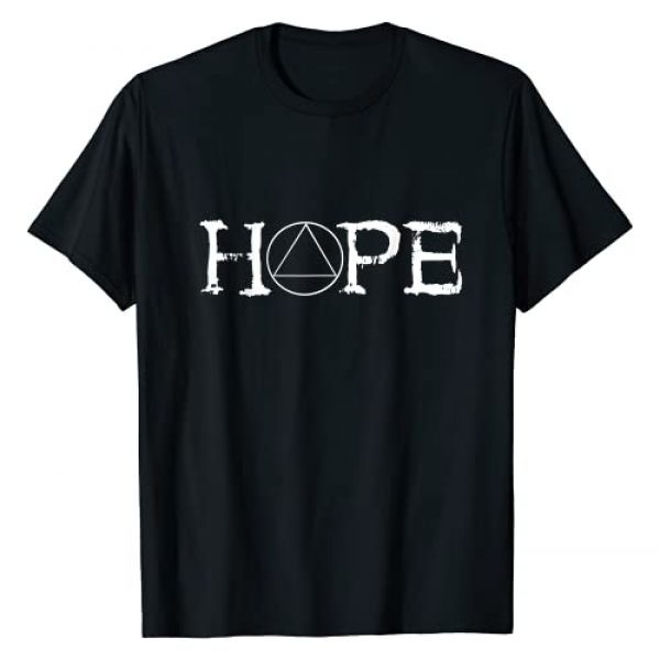 Support Sobriety Sober Recovery Appareal Gifts Graphic Tshirt 1 Sobriety Hope Recovery Alcoholic Abstinence Sober AA Support T-Shirt
