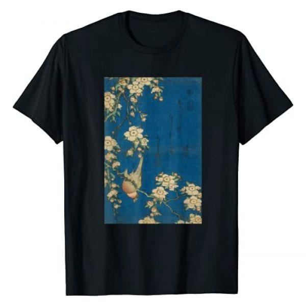 Japanese Retro Clothing Co Graphic Tshirt 1 Goldfinch and Cherry Tree Japanese Retro Art T-Shirt