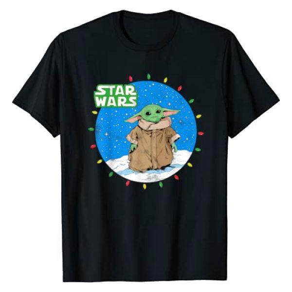 Star Wars Graphic Tshirt 1 The Mandalorian The Child Christmas Lights T-Shirt