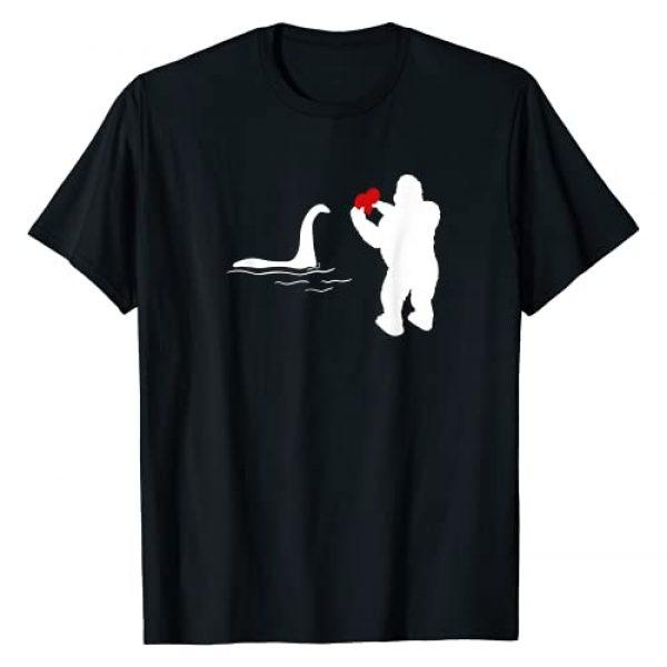 Valentine XeirePrint Graphic Tshirt 1 Bigfoot and Nessie Love - Valentine's Day T-Shirt
