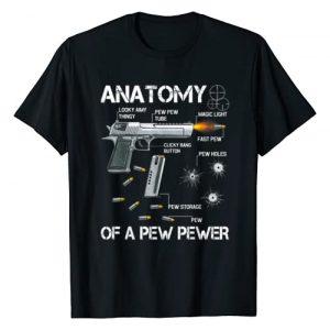 Anatomy Of A Pew Pewer Guns Meme Lovers. Graphic Tshirt 1 Anatomy Of A Pew Pewer - Ammo Gun Amendment Meme Lovers T-Shirt