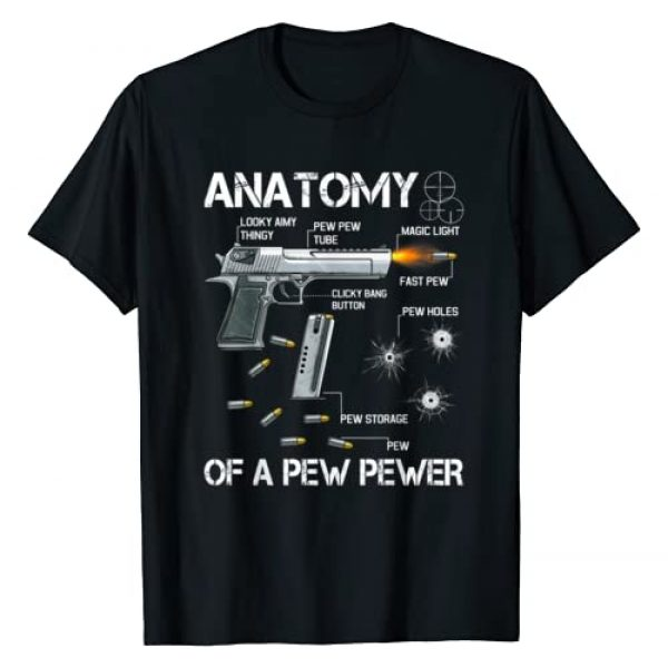 Anatomy Of A Pew Pewer Guns Meme Lovers. Graphic Tshirt 1 Anatomy Of A Pew Pewer - Ammo Gun Amendment Meme Lovers T-Shirt