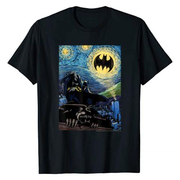 DC Comics Graphic Tshirt 1 Batman Starry Night Style Painting T-Shirt