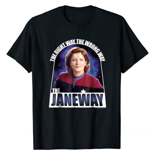 STAR TREK Graphic Tshirt 1 Voyager The Janeway The Right Way Graphic T-Shirt