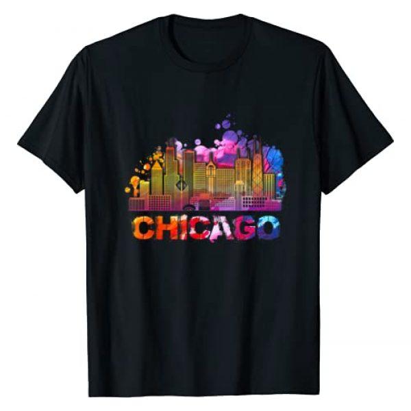 Classic Vintage Retro T-Shirts Graphic Tshirt 1 Vintage Retro Chicago Illinois Skyline T-Shirt