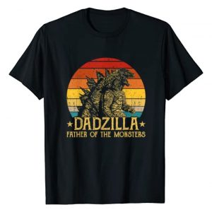 Funny Dadzilla Father Of The Monsters Tee Shirt Graphic Tshirt 1 Dadzilla Father Of The Monsters Retro Vintage Sunset T-Shirt