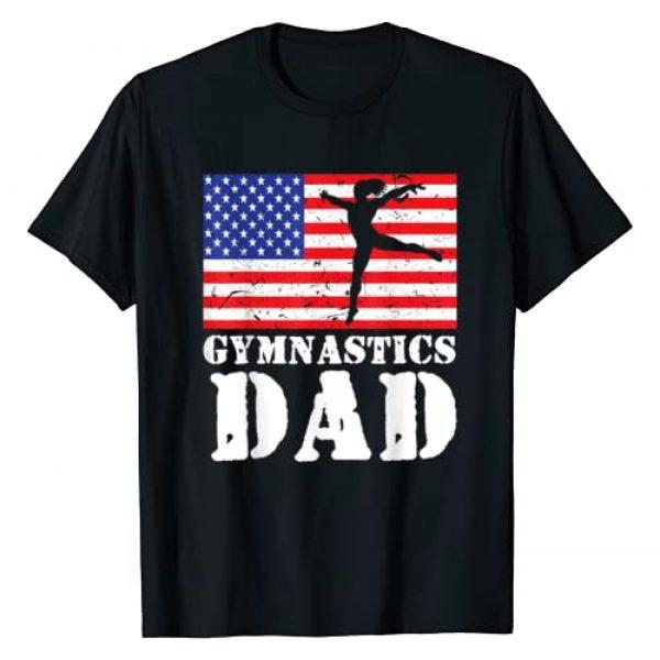 Acrobat Acrobatics Family Men Women Kids Gifts Graphic Tshirt 1 USA American Distressed Flag Gymnastics Dad Men Gift For Him T-Shirt