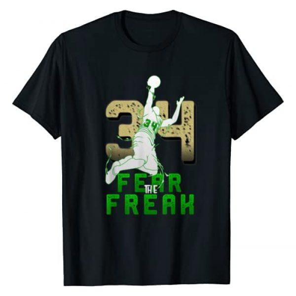 Freak Milwaukee Basketball Bucks Fans Graphic Tshirt 1 Gift For Milwaukee Basketball Bucks Fans 34 Fear the Freak T-Shirt