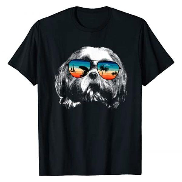 TeeRetro Graphic Tshirt 1 SHITZU Shirts With Glasses Sunglasses Retro Style T-Shirt
