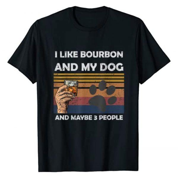 Dog 3 People dog lover shirt Graphic Tshirt 1 Vintage I Like Bourbon and my dog Maybe 3 People T-Shirt