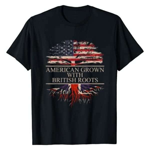 THE ROOTS OF LIFE TEES Graphic Tshirt 1 American Grown with British Roots T-Shirt