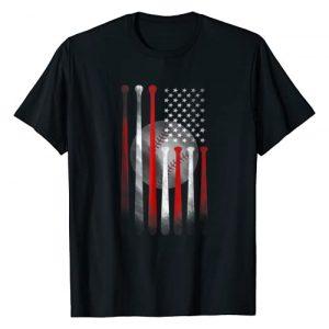 American Baseball USA Flag Shirt Designs Graphic Tshirt 1 American Flag Vintage Baseball Flag T-Shirt, Dad, Mom Tee