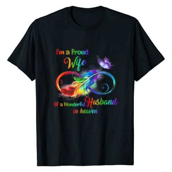 I'm a Proud Wife Of The Wonderful Husband Graphic Tshirt 1 In Heaven T-Shirt