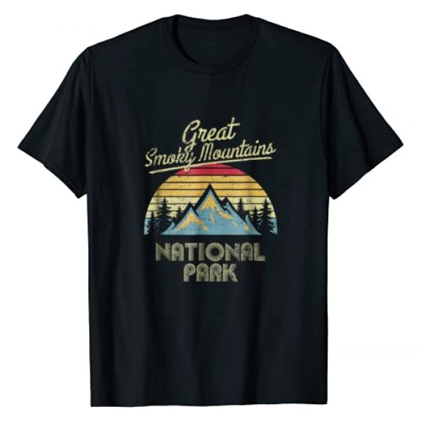 US National Parks Apparel & Forest Tee Shirts Graphic Tshirt 1 Vintage Great Smoky Mountains National Park Mountain T Shirt