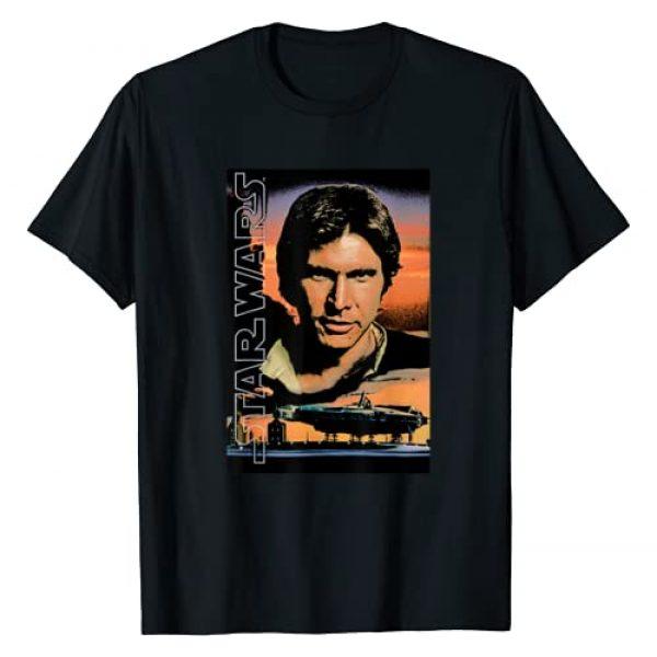 Star Wars Graphic Tshirt 1 Han Solo Millennium Falcon Retro Poster T-Shirt