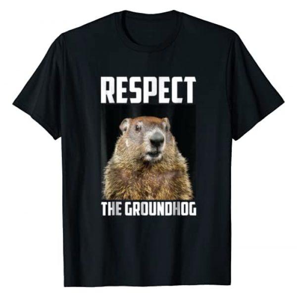 Groundhog Day Vibes Tees Graphic Tshirt 1 Respect The Groundhog Woodchuck Photo Ground-Hog Day T-Shirt
