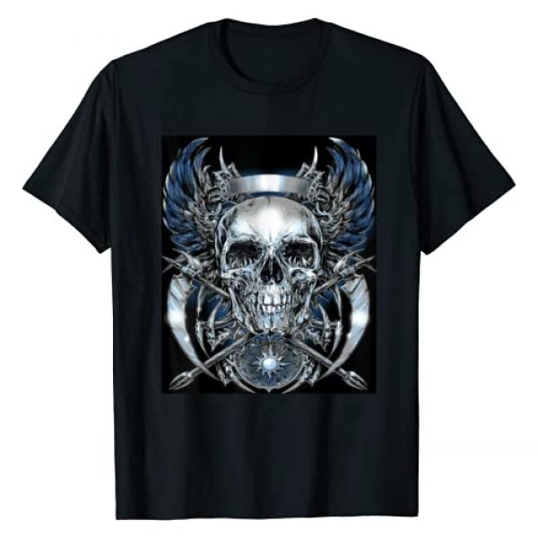 TRENDY 0401 Graphic Tshirt 1 SKULL AND WINGS AWESOME GRAPHIC T SHIRT