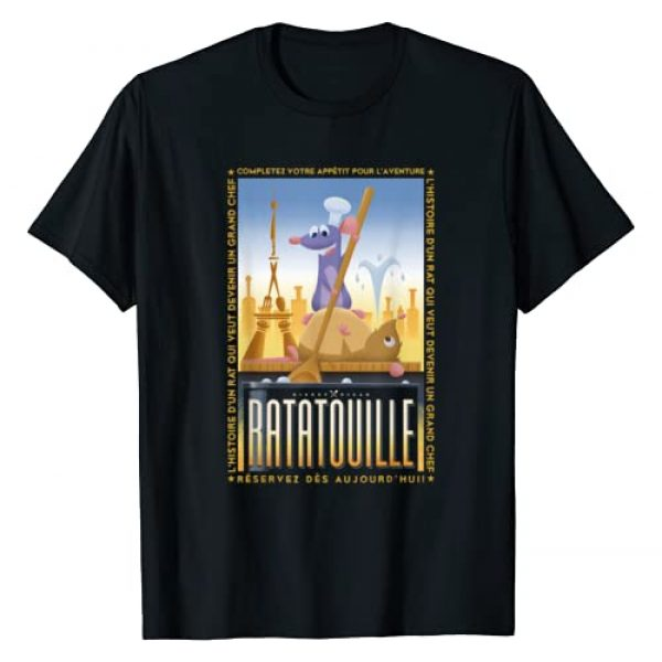 Disney Graphic Tshirt 1 Pixar Ratatouille Remy And Emile Cooking Poster T-Shirt