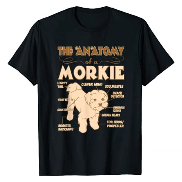 Lailezeza Designs Graphic Tshirt 1 The Anatomy Of Morkie Pet Lovers Gift Tshirt