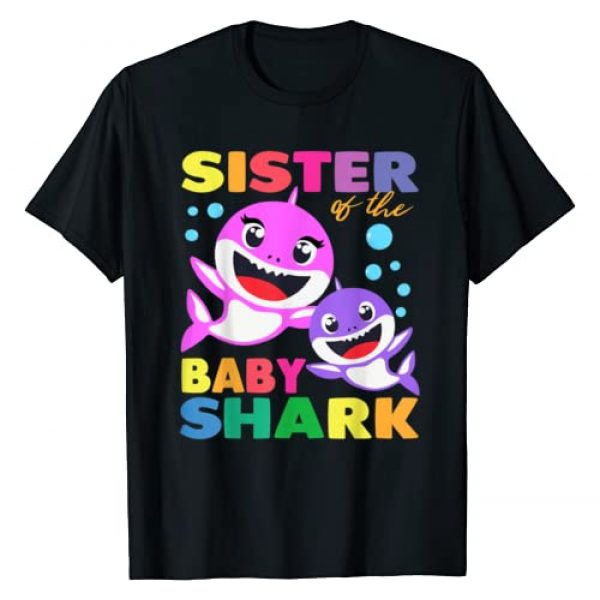 Funny Family Birthday Gifts Shark Shirts Graphic Tshirt 1 Sister Of The Baby Shark Birthday Sister Shark Shirt T-Shirt