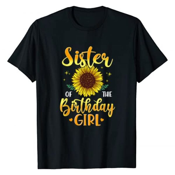 CC Sunflower Birthday Supplies Gift Graphic Tshirt 1 Sister Of The Birthday Girl Sunflower Party Family Matching T-Shirt