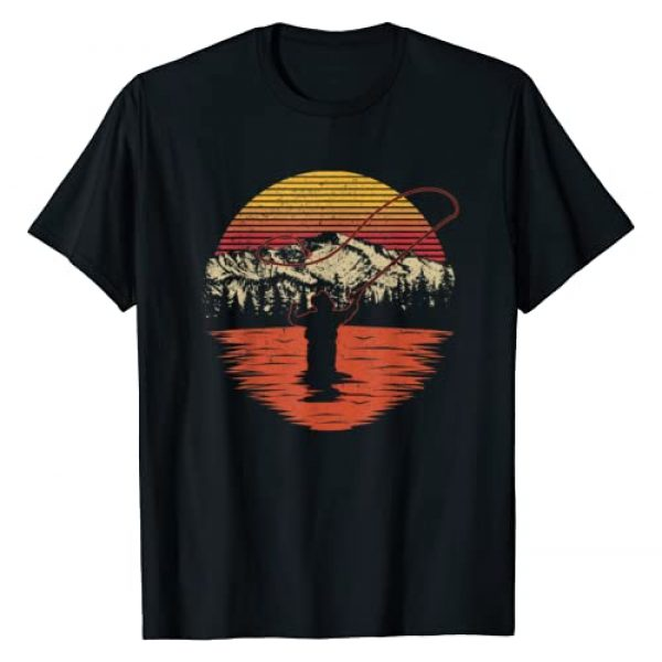 Fishing gift shirt for Dad and Grandpa Graphic Tshirt 1 Retro Vintage Fly Fishing Shirt - Fly Fisherman T-Shirt