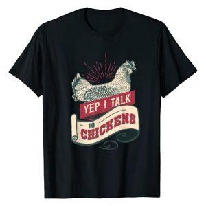 Best Cool Yep I Talk To Chickens Shirts Graphic Tshirt 1 Yep I Talk To Chickens Vintage Style Shirt Chicken T-Shirt