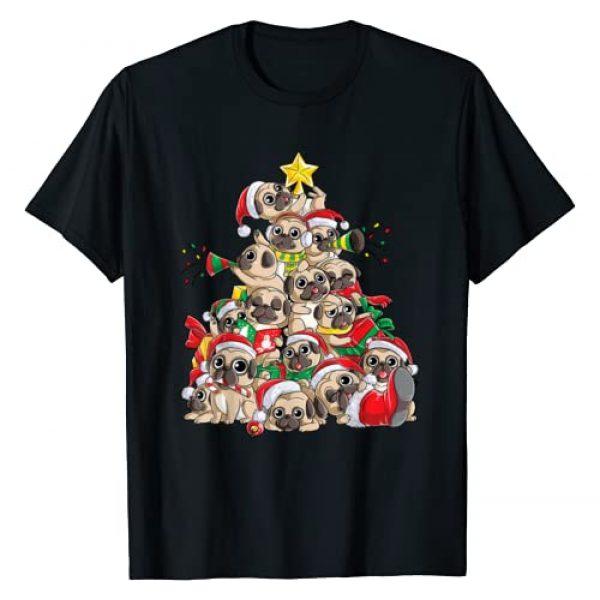 Most Wonderful Christmas Co Graphic Tshirt 1 Pug Christmas Tree Dog Santa Merry Pugmas Xmas Gifts Boys T-Shirt