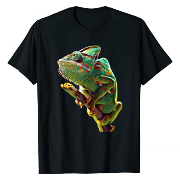Scary Knight Clothing Graphic Tshirt 1 Veiled Chameleon Reptile Lizard T-Shirt