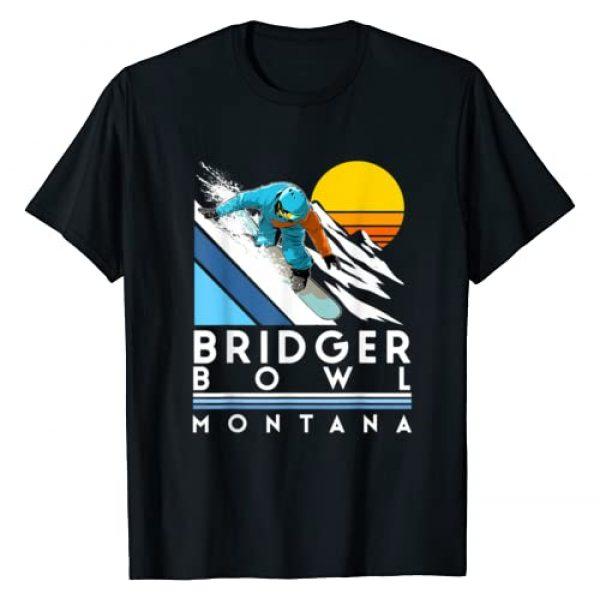 Winter Sport Style Graphic Tshirt 1 Bridger Bowl Montana Retro Snowboard T-Shirt