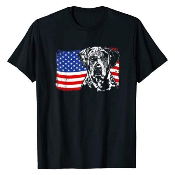 Wilsigns Catahoula Leopard Dog Designs Graphic Tshirt 1 Proud Catahoula Leopard Dog American Flag patriotic dog gift T-Shirt