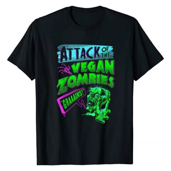 Funny Halloween Shirts for Vegans & Vegetarians Graphic Tshirt 1 Attack of the Vegan Zombies Vegetarian Halloween T-Shirt