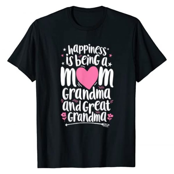 Lique Family Graphic Tshirt 1 Happiness Is Being A Mom Great Grandma T shirt Women Mother T-Shirt