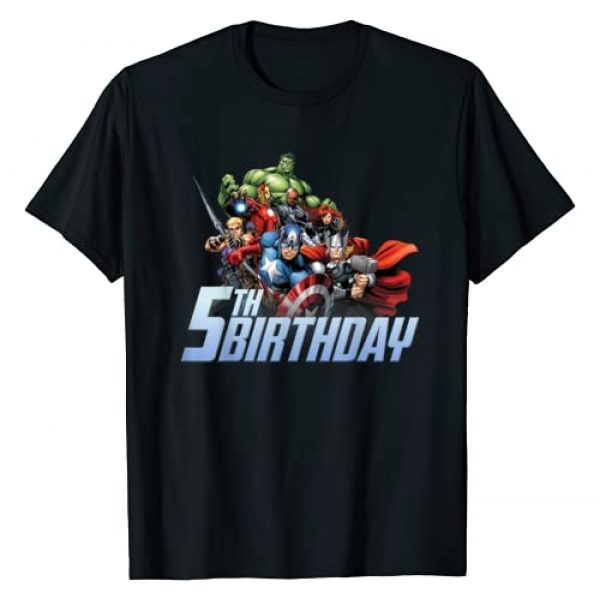 Marvel Graphic Tshirt 1 Avengers Action Shot 5th Birthday T-Shirt