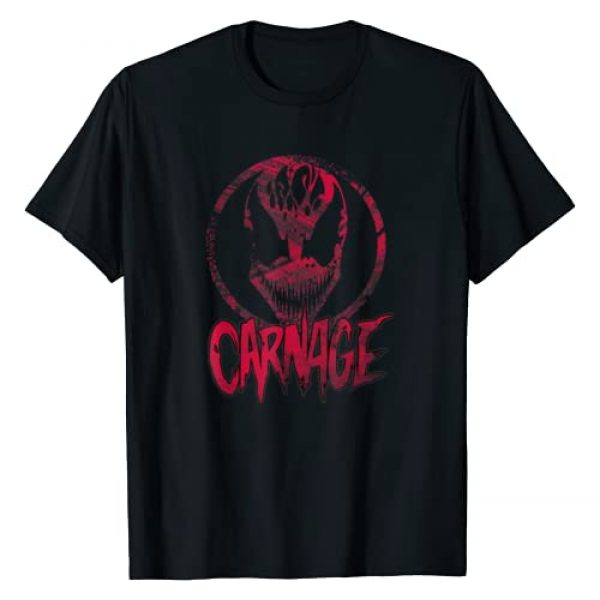 Marvel Graphic Tshirt 1 Carnage Single Coated Red Painted Face Logo Graphic T-Shirt