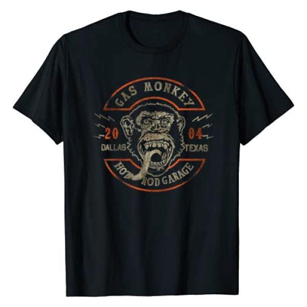Gas Monkey Garage Graphic Tshirt 1 2004 Distressed Half Circle Logo T-Shirt