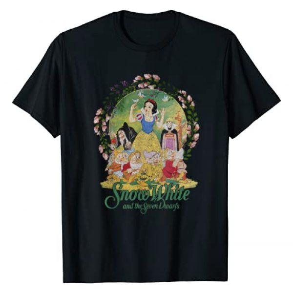 Disney Graphic Tshirt 1 Snow White Main Cast Flower Ring Graphic T-Shirt
