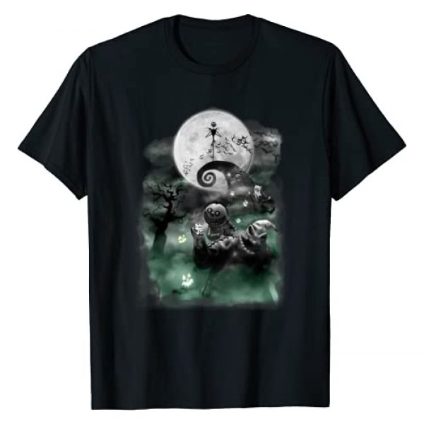 Disney Graphic Tshirt 1 The Nightmare Before Christmas Haunted Scene T-Shirt