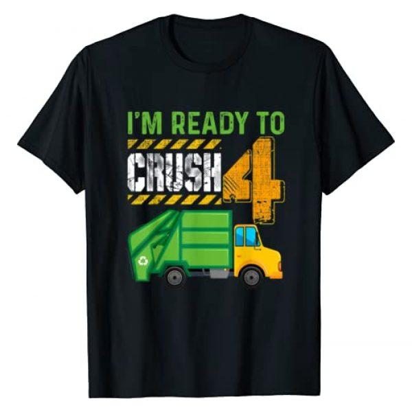 Garbage Truck Birthday Shirt Gift For Kids Graphic Tshirt 1 Kids 4th Birthday Shirt Garbage Truck 4 Year Old Boy Gift T-Shirt