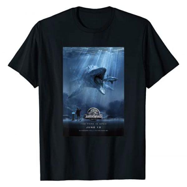 Jurassic World Graphic Tshirt 1 Mosasaurus Movie Poster Graphic T-Shirt