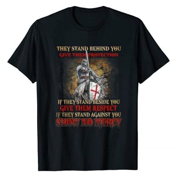 Knight Templar Girls Graphic Tshirt 1 Knight Templar If They Stand Behind You Give Them Protection T-Shirt