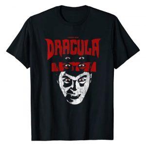Universal Monsters Graphic Tshirt 1 Distressed Dracula Portrait Logo T-Shirt