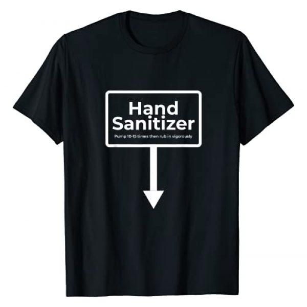 Naughty Dirty Christmas Tees Graphic Tshirt 1 Hand Sanitizer - Funny Adult Humour Christmas Gag Gift T-Shirt