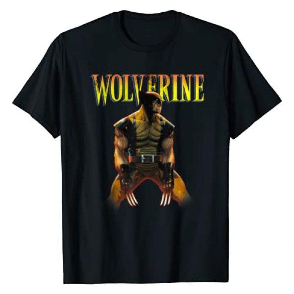 Marvel Graphic Tshirt 1 X-Men Wolverine Side Profile Logo Graphic T-Shirt