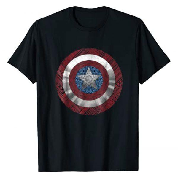 Marvel Graphic Tshirt 1 Captain America Avenger Ornate Shield Graphic T-Shirt